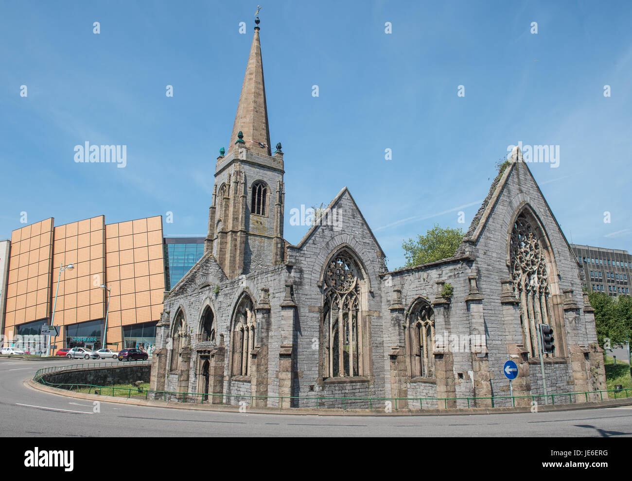 Copyrighted Image by Paul Slater/PSI - Charles Cross Church, Plymouth, UK. - Stock Image