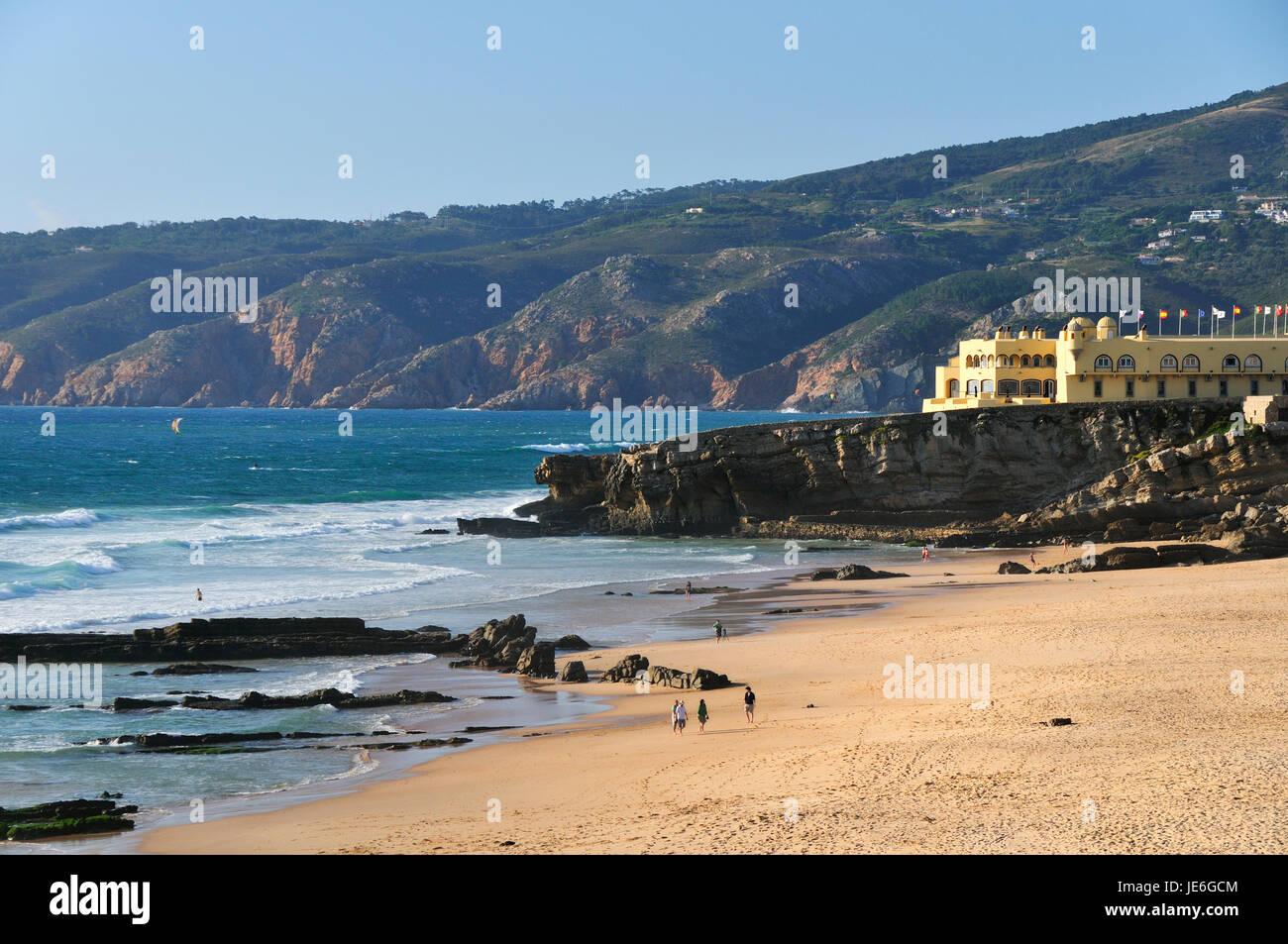 Praia do Guincho and Serra de Sintra. Cascais, Portugal Stock Photo