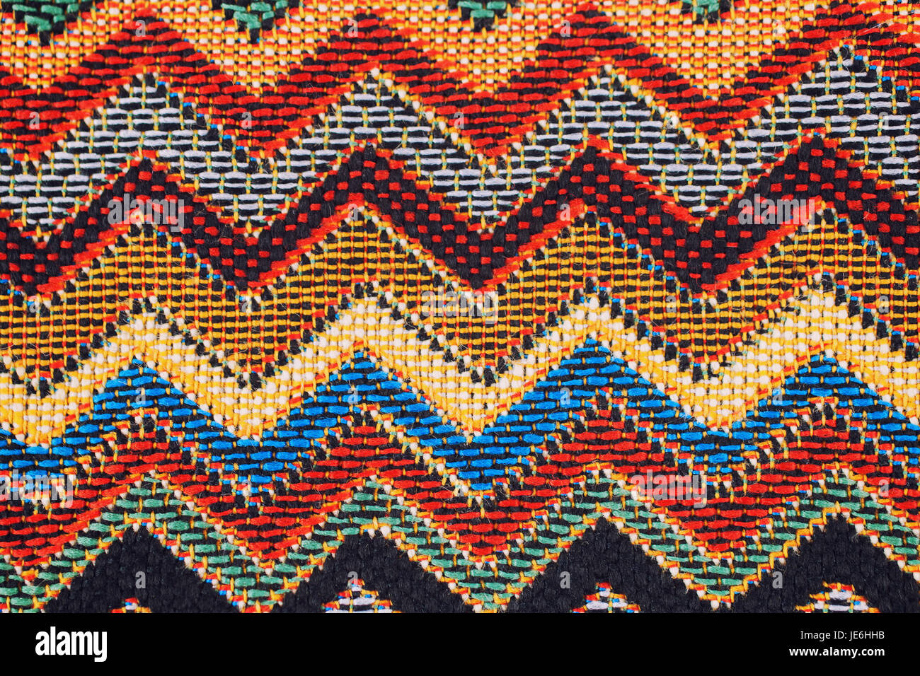 Texture Of Fabric With Traditional Mexican Pattern Macro A Tissue Sample