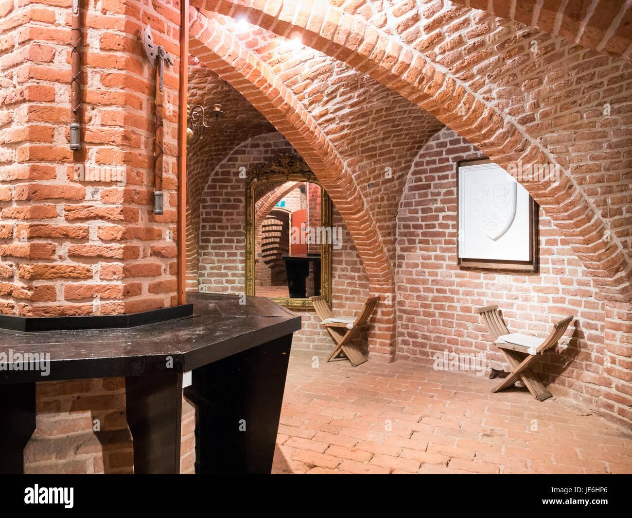 Interior of Burgundian tower of Duurstede castle in Wijk bij Duurstede in province Utrecht, Netherlands Stock Photo