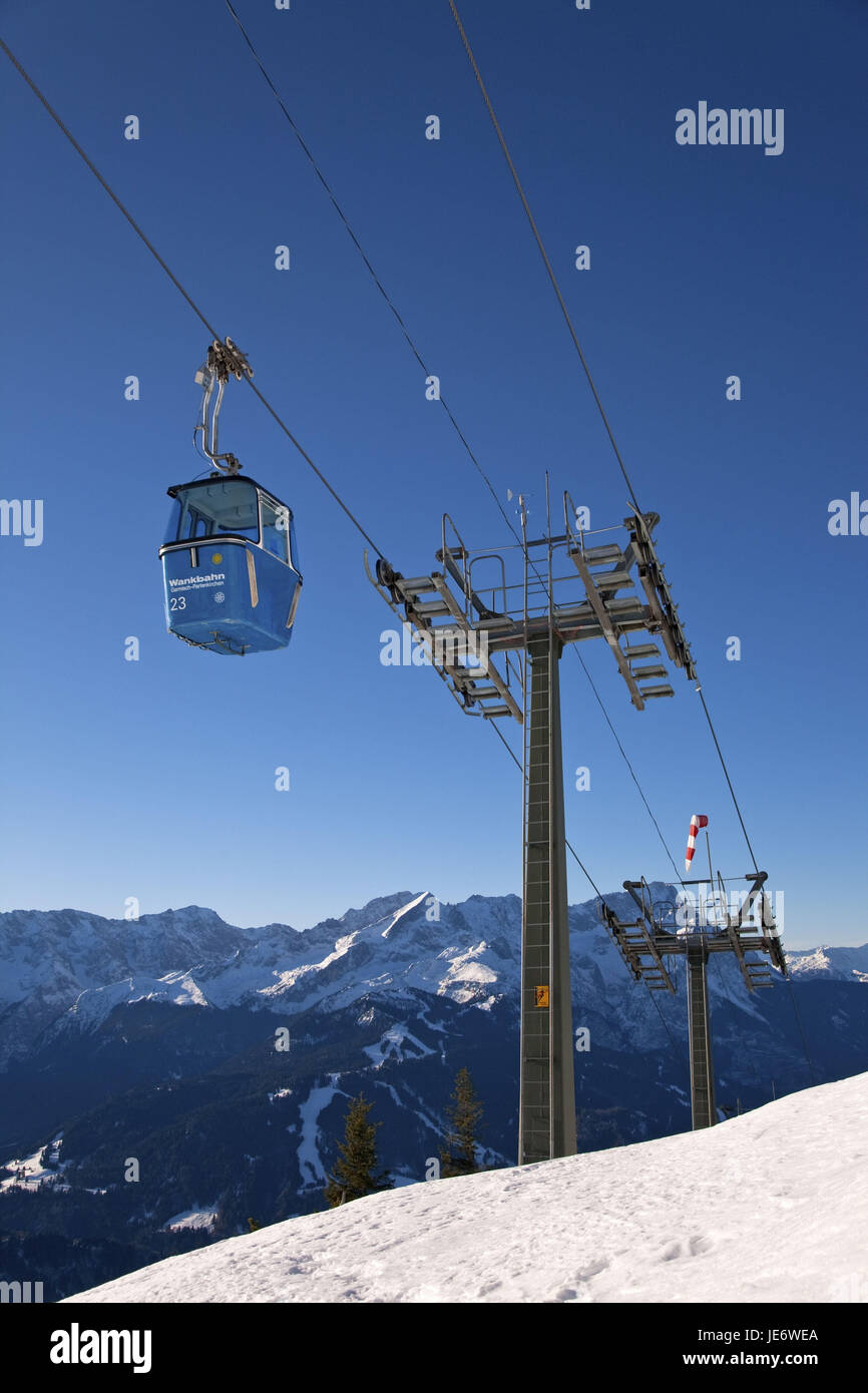 Rolling trajectory to the staggering, Garmisch-Partenkirchen, Germany, Bavarians, Upper Bavaria, alps, foothills - Stock Image