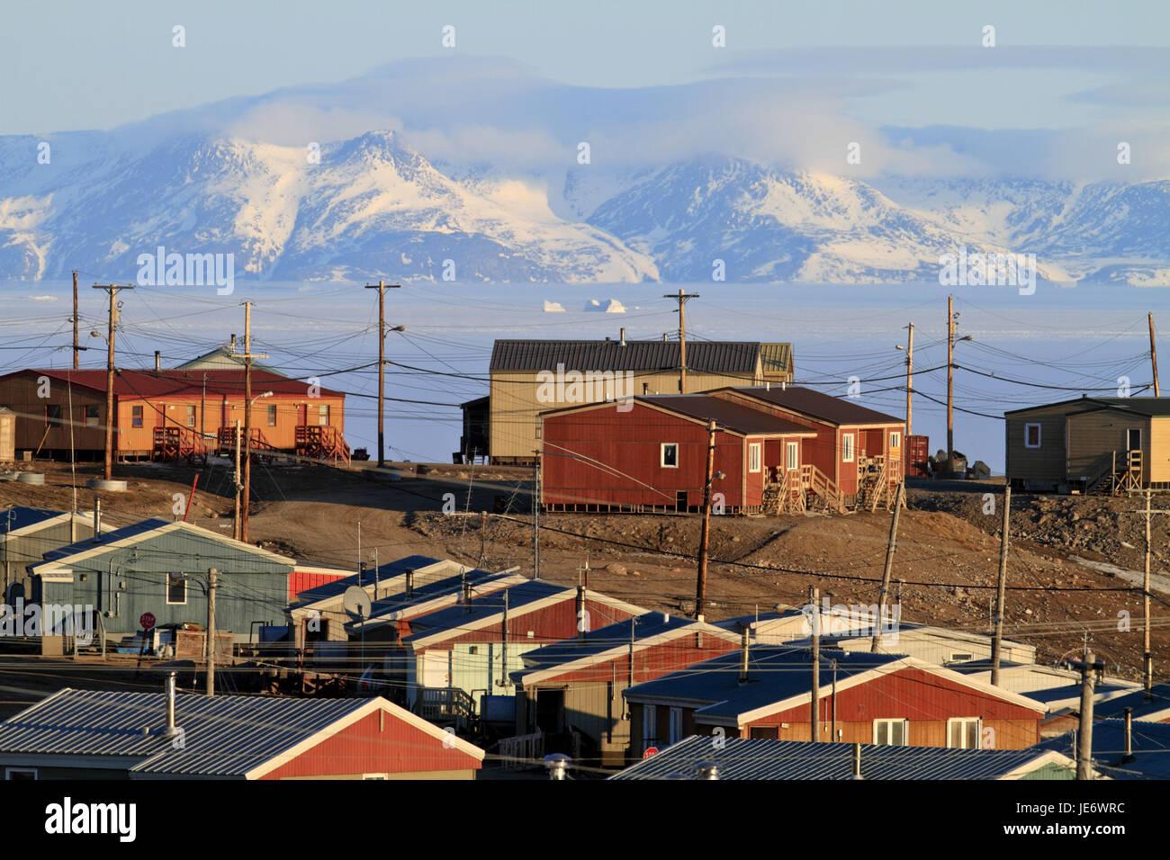 North America, Canada, Nordkanada, Nunavut, Baffin Iceland, Eclipse sound, Pond Inlet, - Stock Image