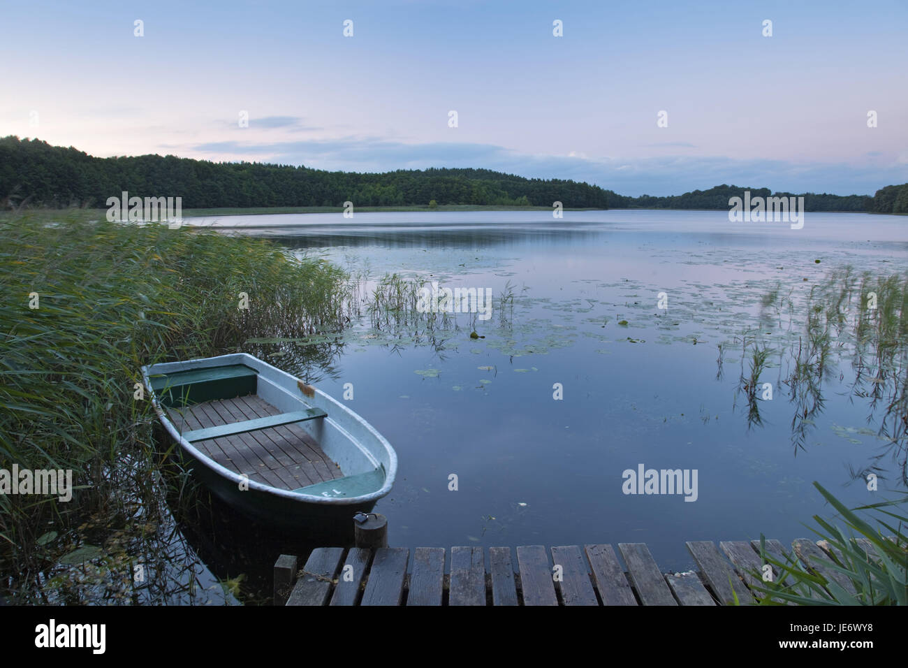 Germany, Mecklenburg-West Pomerania, Mecklenburg, Mecklenburg lowland plain full of lakes, castle Kratze, Dambeck, - Stock Image