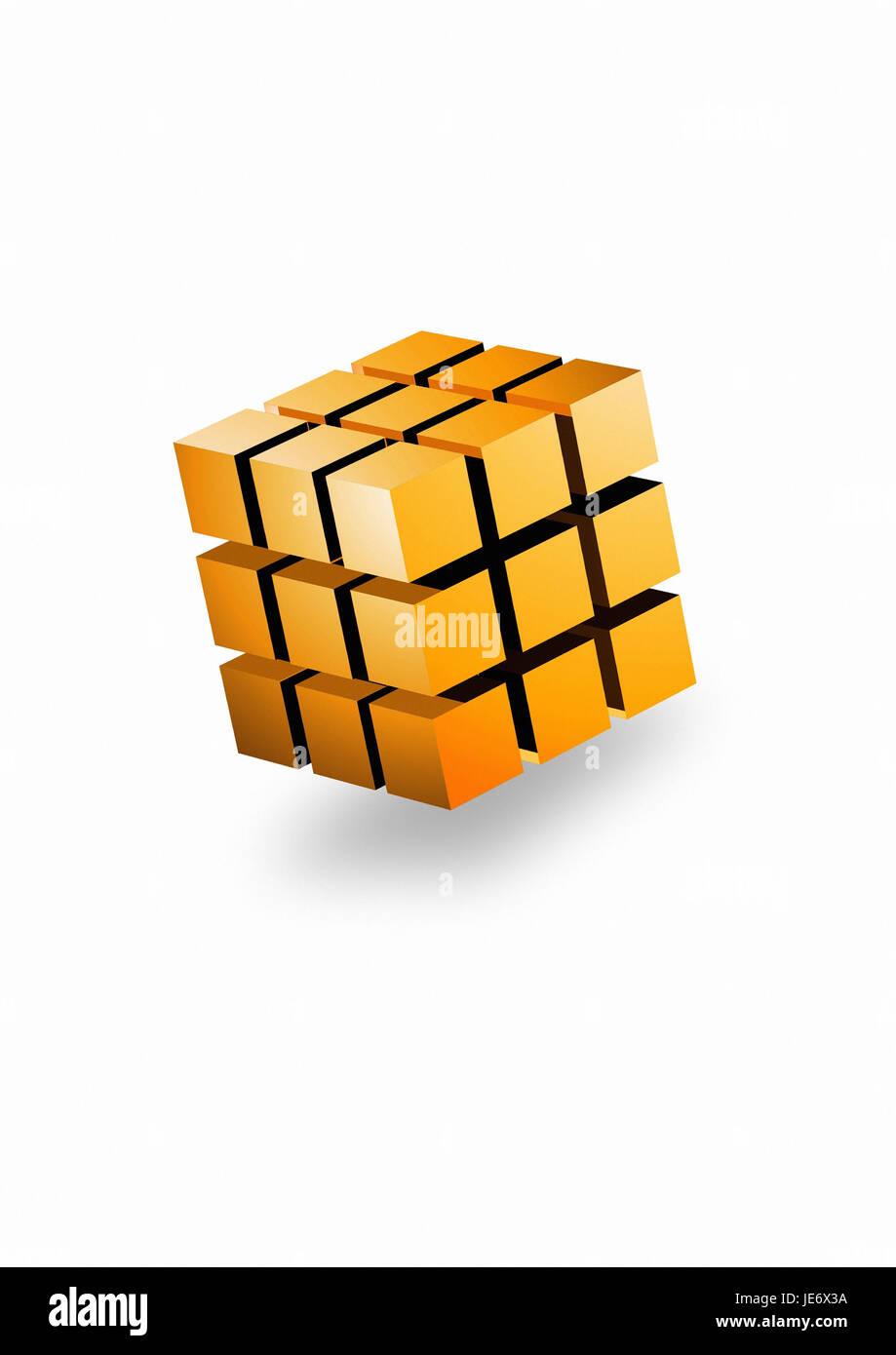 Cube, - Stock Image