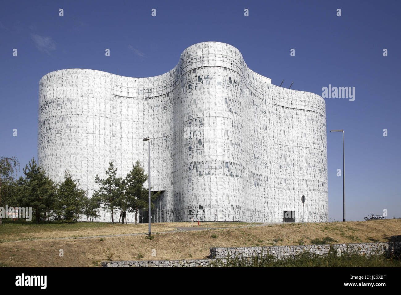 Germany, Saxony-Anhalt, Cottbus, information centre and multimedia information centre, - Stock Image