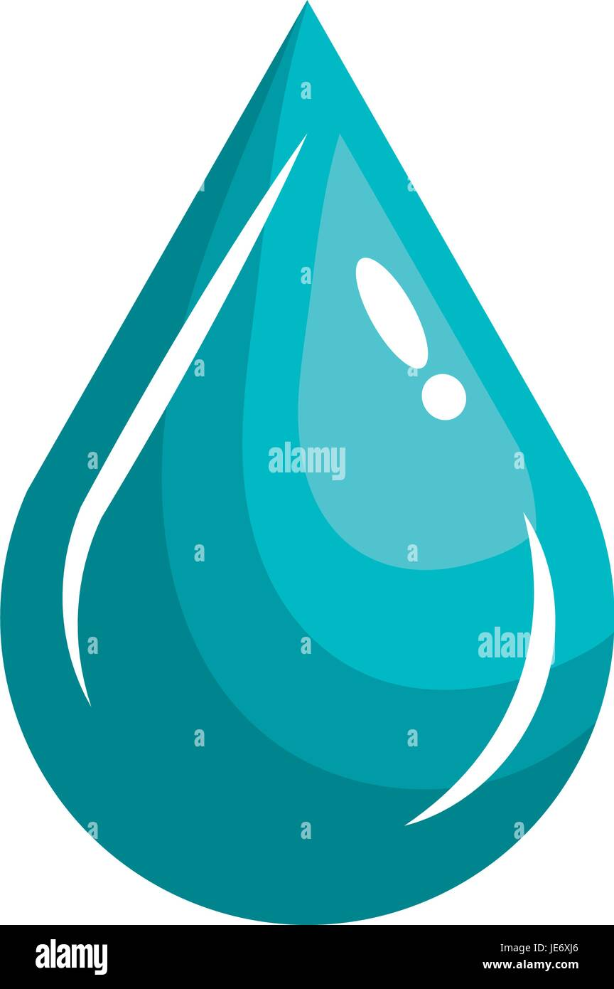 water drop ecology icon - Stock Image
