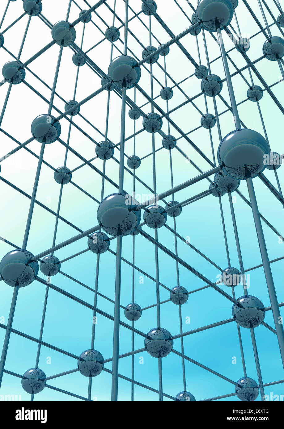 Network, structure, - Stock Image