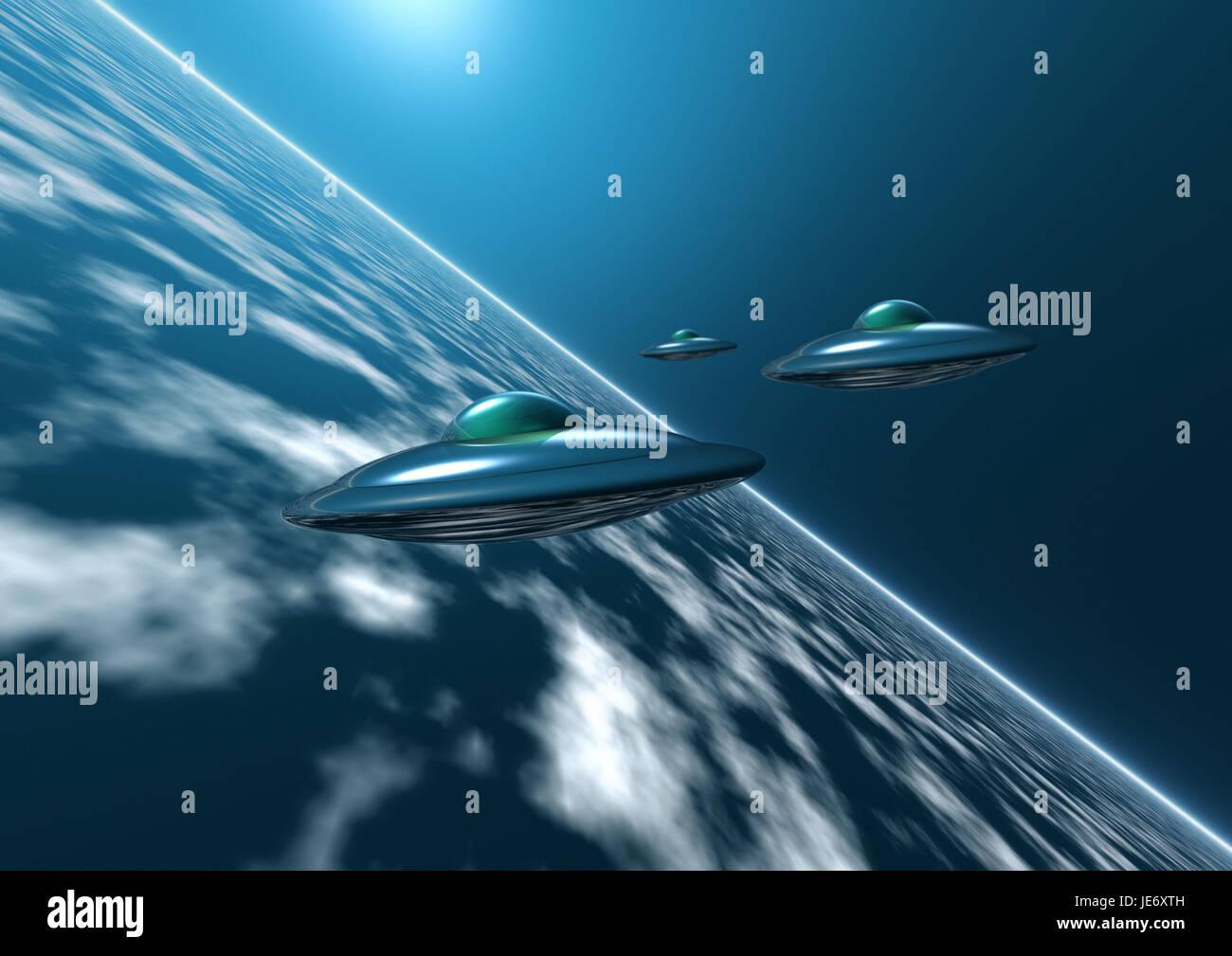 UFOs, - Stock Image
