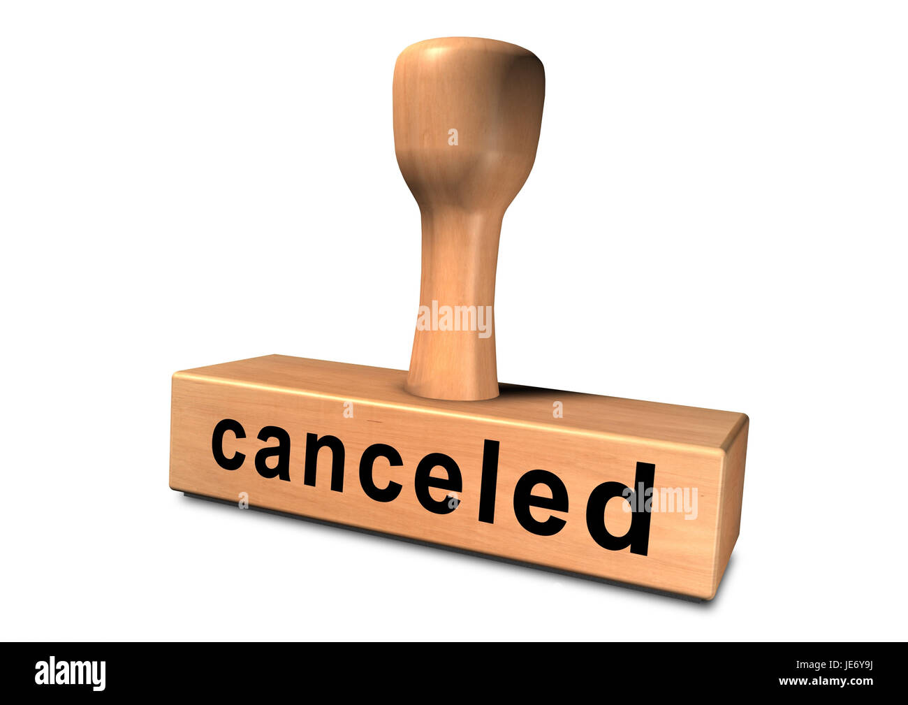 Stamp 'canceled', - Stock Image