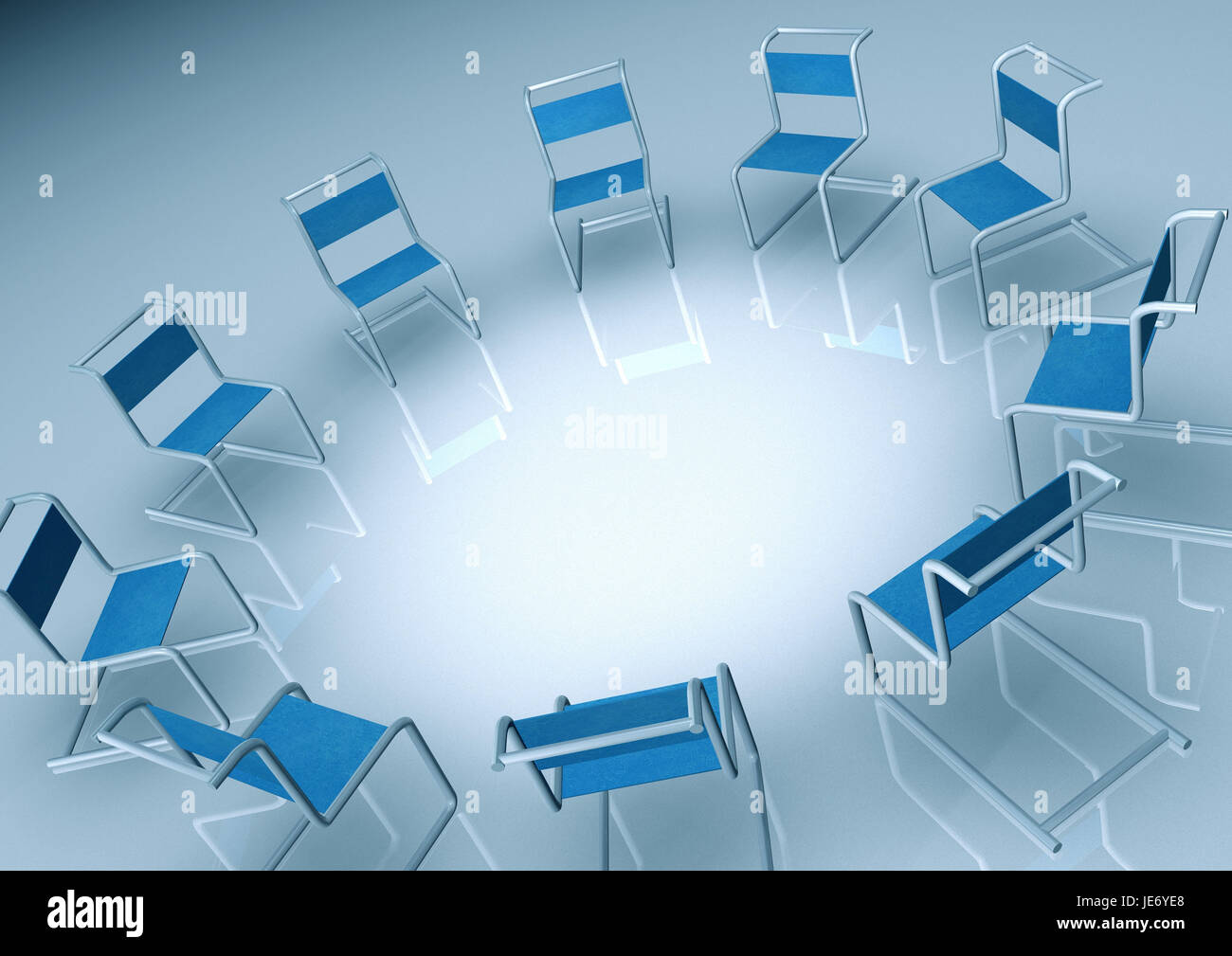Frei's swing chairs, - Stock Image