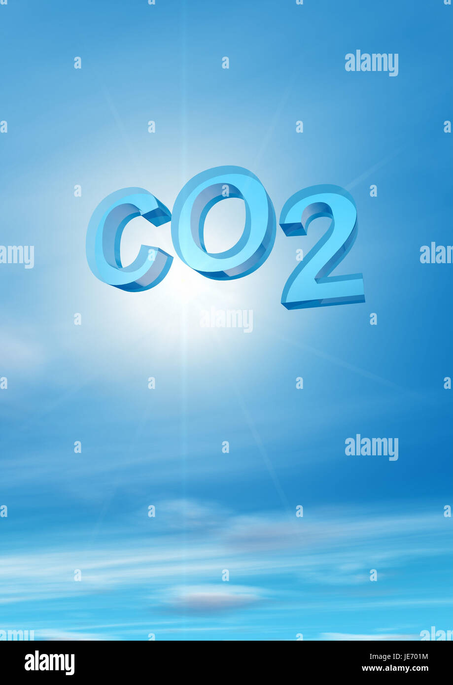 CO2 - carbon dioxide, - Stock Image