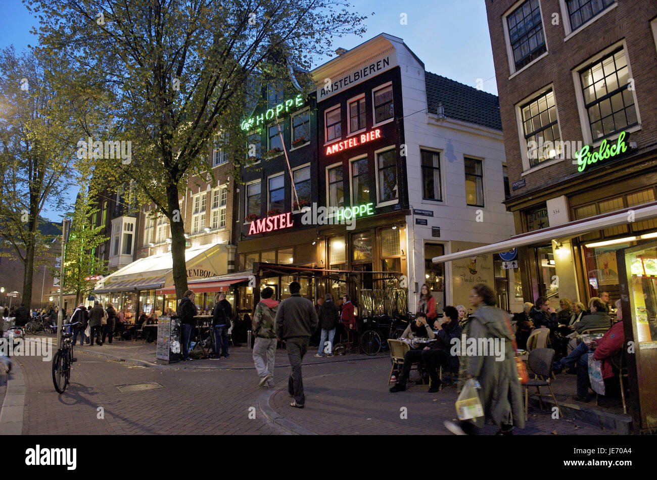 Holland, the Netherlands, Amsterdam, tourist in the city centre, - Stock Image