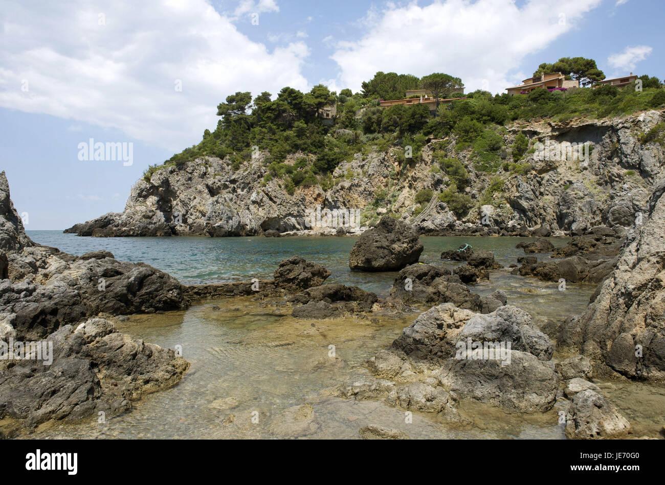 Italy, Tuscany, La Maremma, Talamone, bile coast, - Stock Image