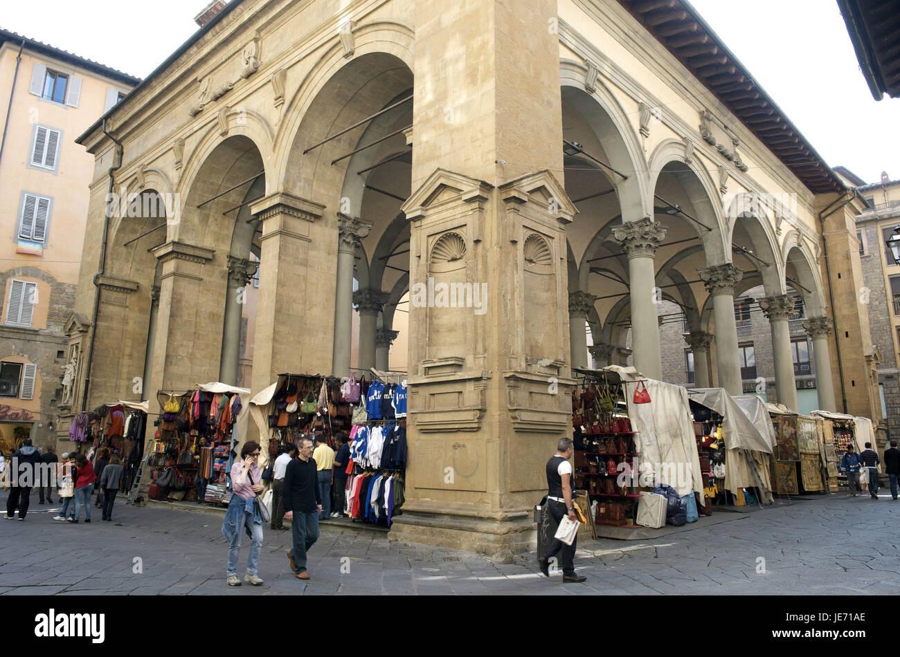Italy, Tuscany, Florence, Piazza del Mercato Nuovo, Mercato central, - Stock Image