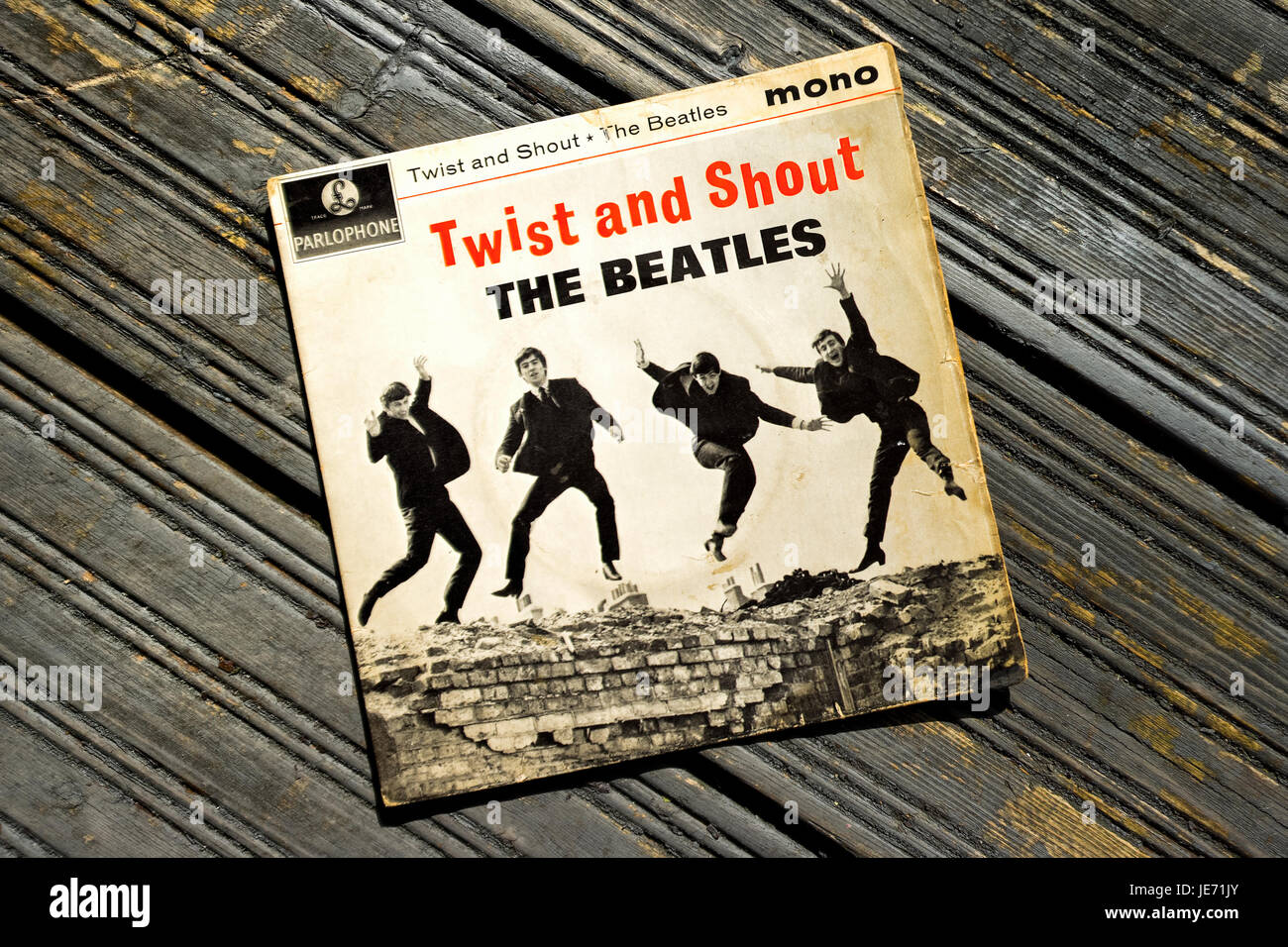 Twist and Shout Record Single first released on 22nd March 1962 on Parlophone label and produced by George Martin. Stock Photo