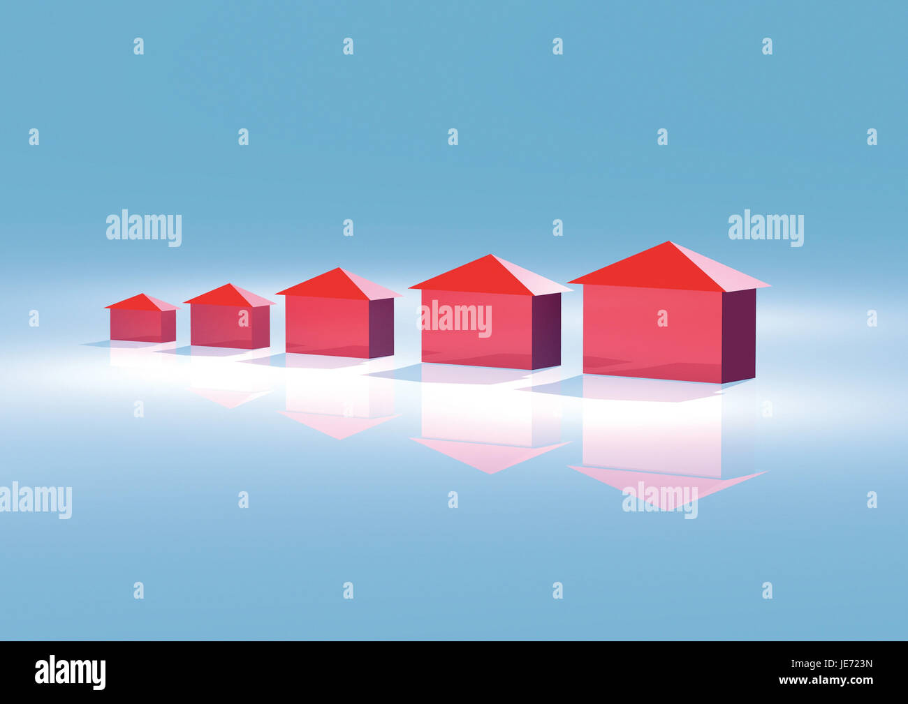 House Models, Series, - Stock Image