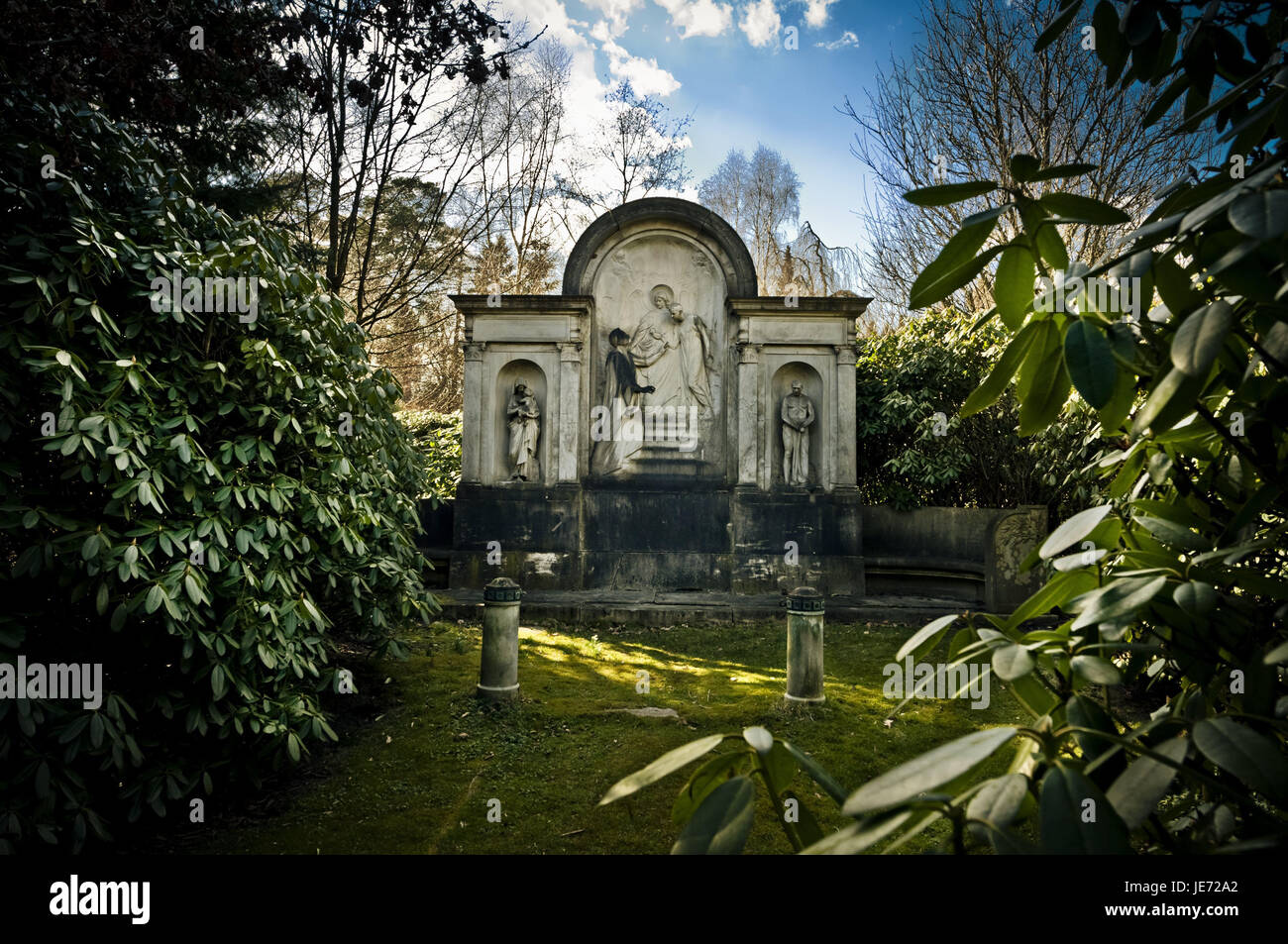 Germany, Hamburg, village Ohls, park cemetery, tomb, mausoleum, cemetery, rest, recollection, memory, memory cemetery, - Stock Image