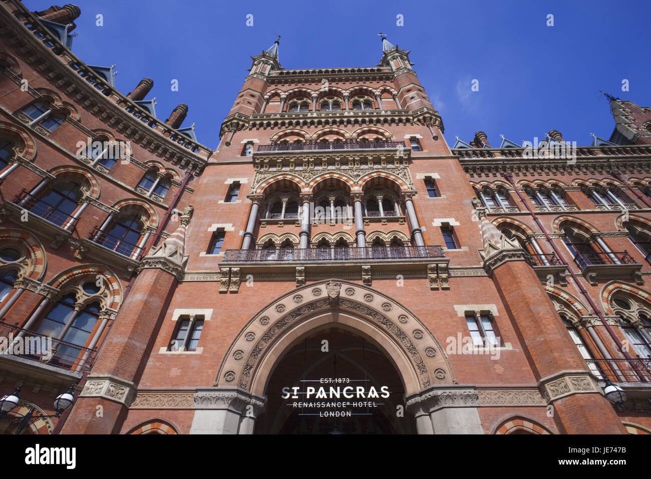 England, London, St. Pancras, Marriot Renaissance hotel, outside, UK, GB, hotel, gastronomy, 5-star hotel, facade, - Stock Image