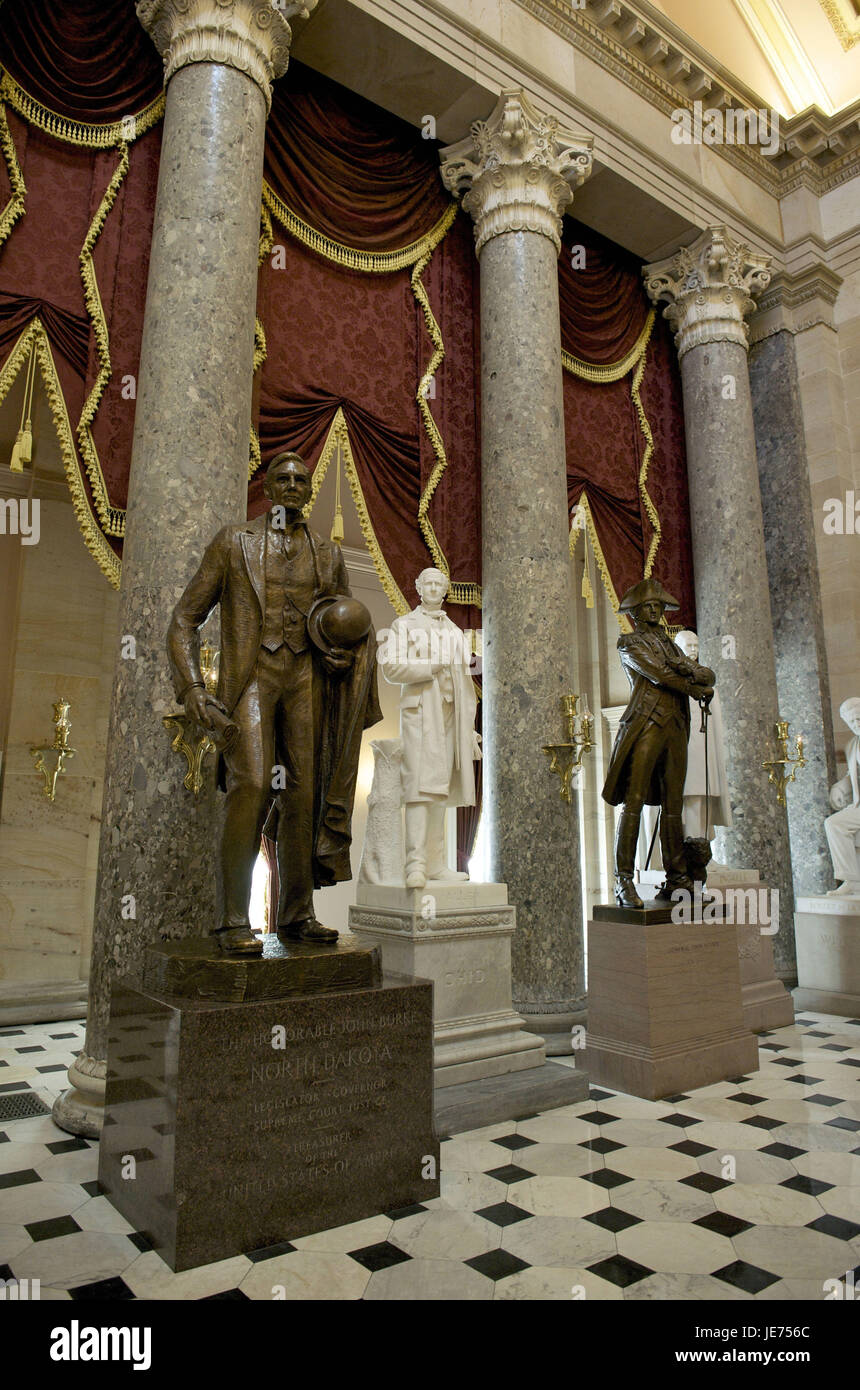 The USA, America, Washington D.C., Capitol, Nationwide Statuary sound, The statues Halle, - Stock Image