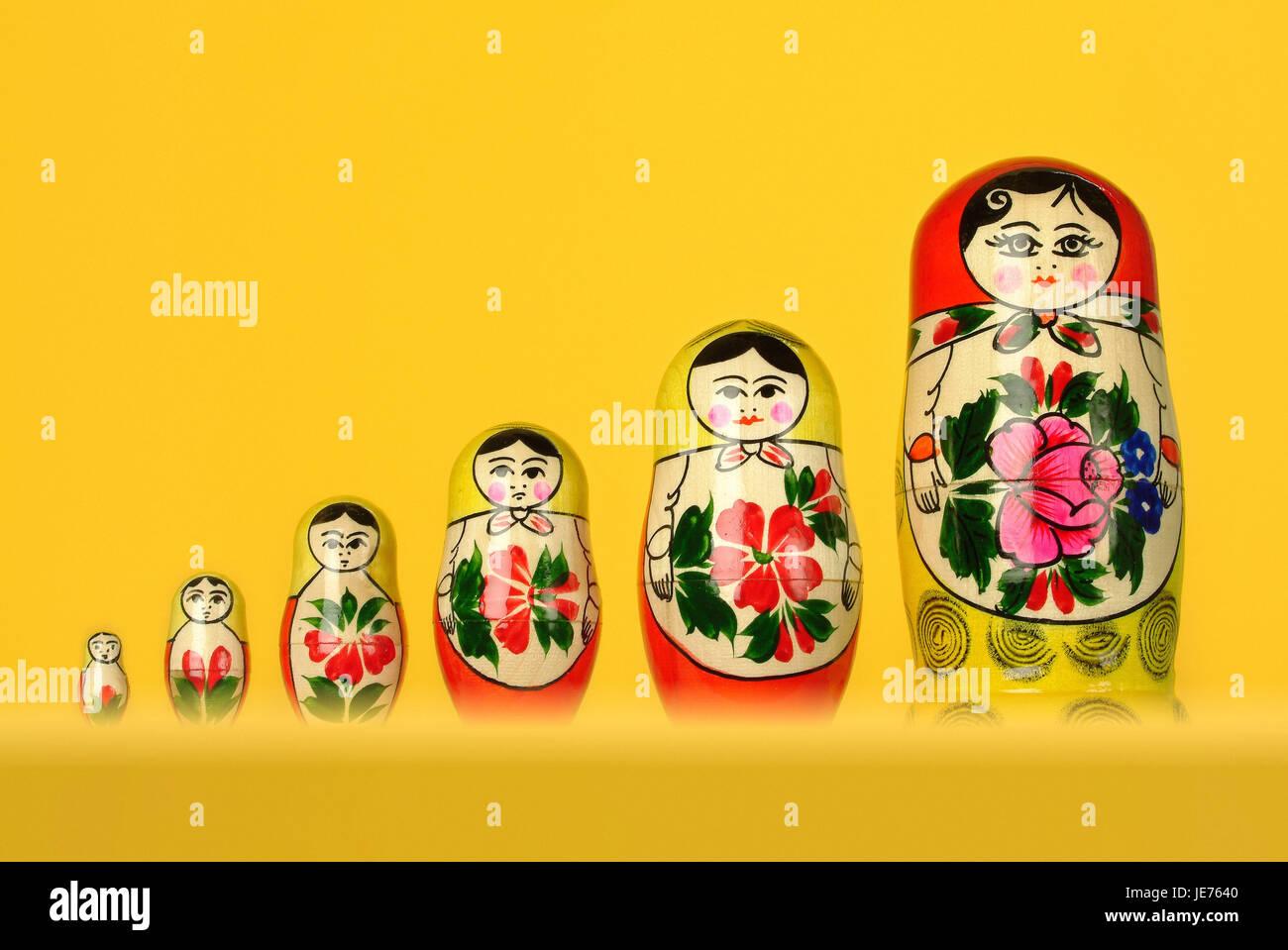 Russian Matroschka, Babuschka doll, Stock Photo