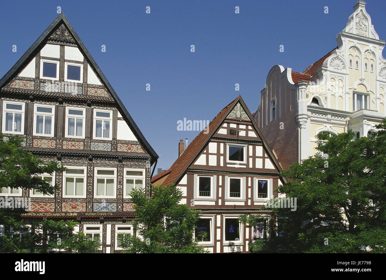 Germany, North Rhine-Westphalia, Detmold, Long street, Teutoburger wood, Old Town, town view, square, place of interest, - Stock Image
