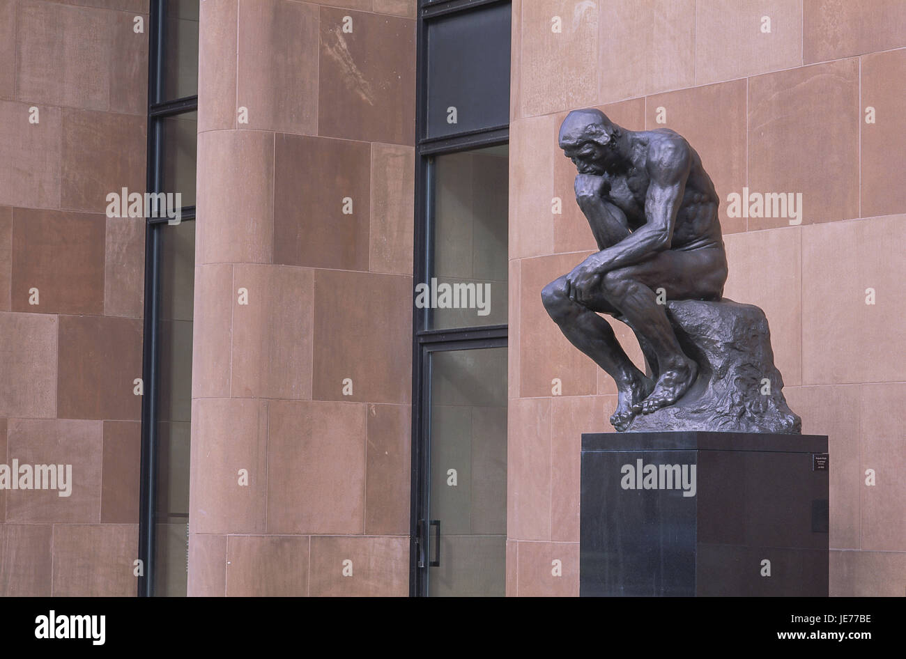 Germany, North Rhine-Westphalia, Bielefeld, arts centre, sculpture of The thinkers, Teutoburger wood, place of interest, - Stock Image