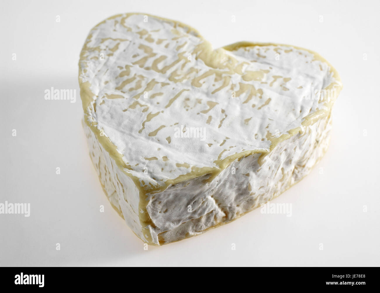 Neufchatel, French cheese, produced of cow's milk, Normandy, - Stock Image