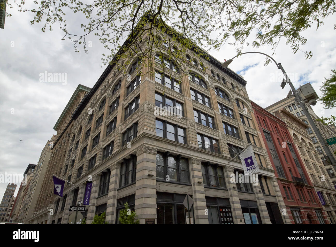 joseph violet and pless hall building greenwich village New York City USA - Stock Image