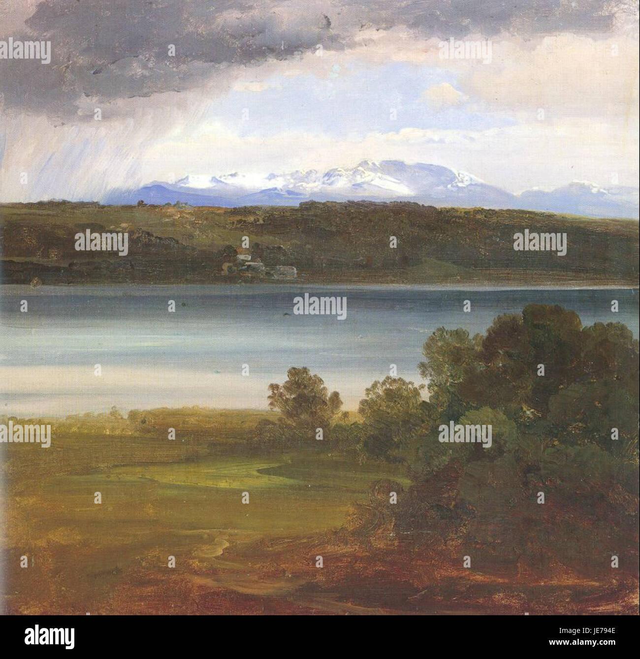Christian Morgenstern - View Across Lake Starnberg to the Benedikte - Stock Image