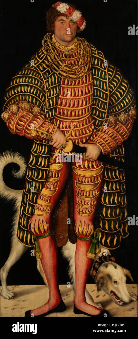 Lucas Cranach the Elder - Duke Henry the Pious - - Stock Image