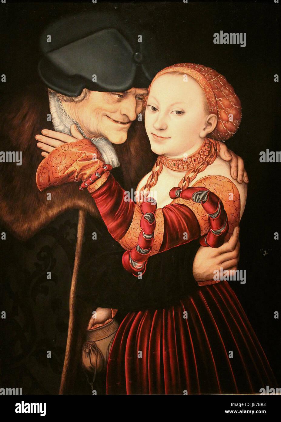 Lucas Cranach - Der verliebte Alte1 - Stock Image
