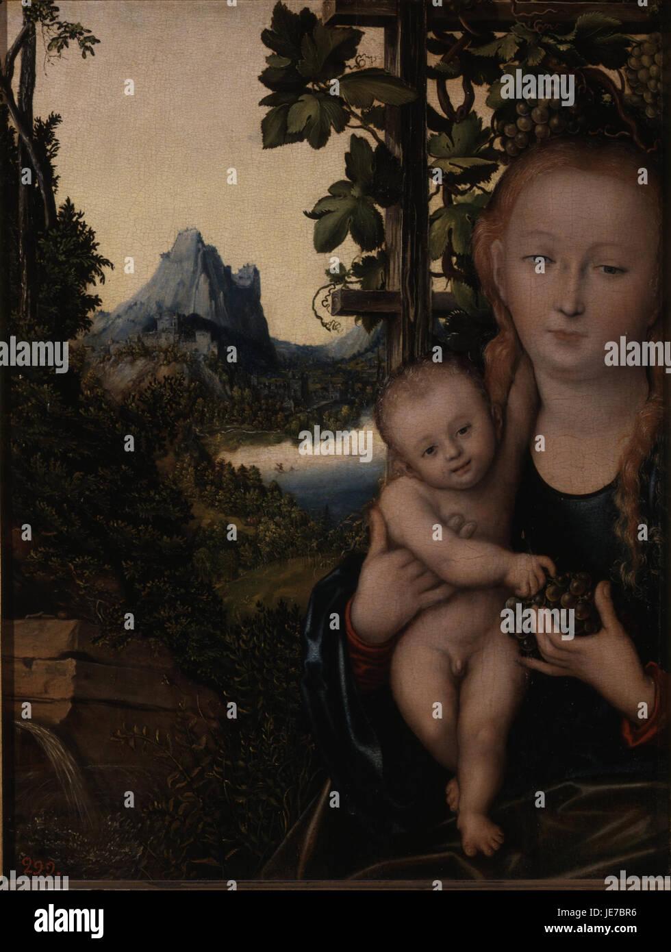 Lucas Cranach the Elder - Virgin and Child - - Stock Image