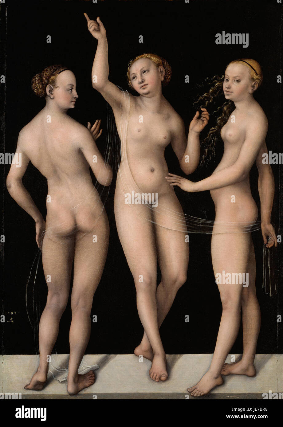 Lucas Cranach the Elder - The Three Graces - - Stock Image