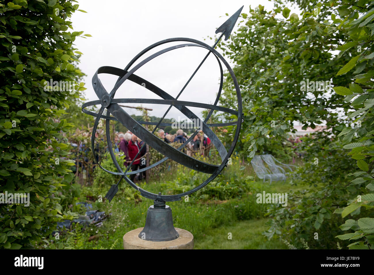 View Of Show Garden At First RHS Chatsworth Flower Show, Chatsworth House,  Derbyshire,
