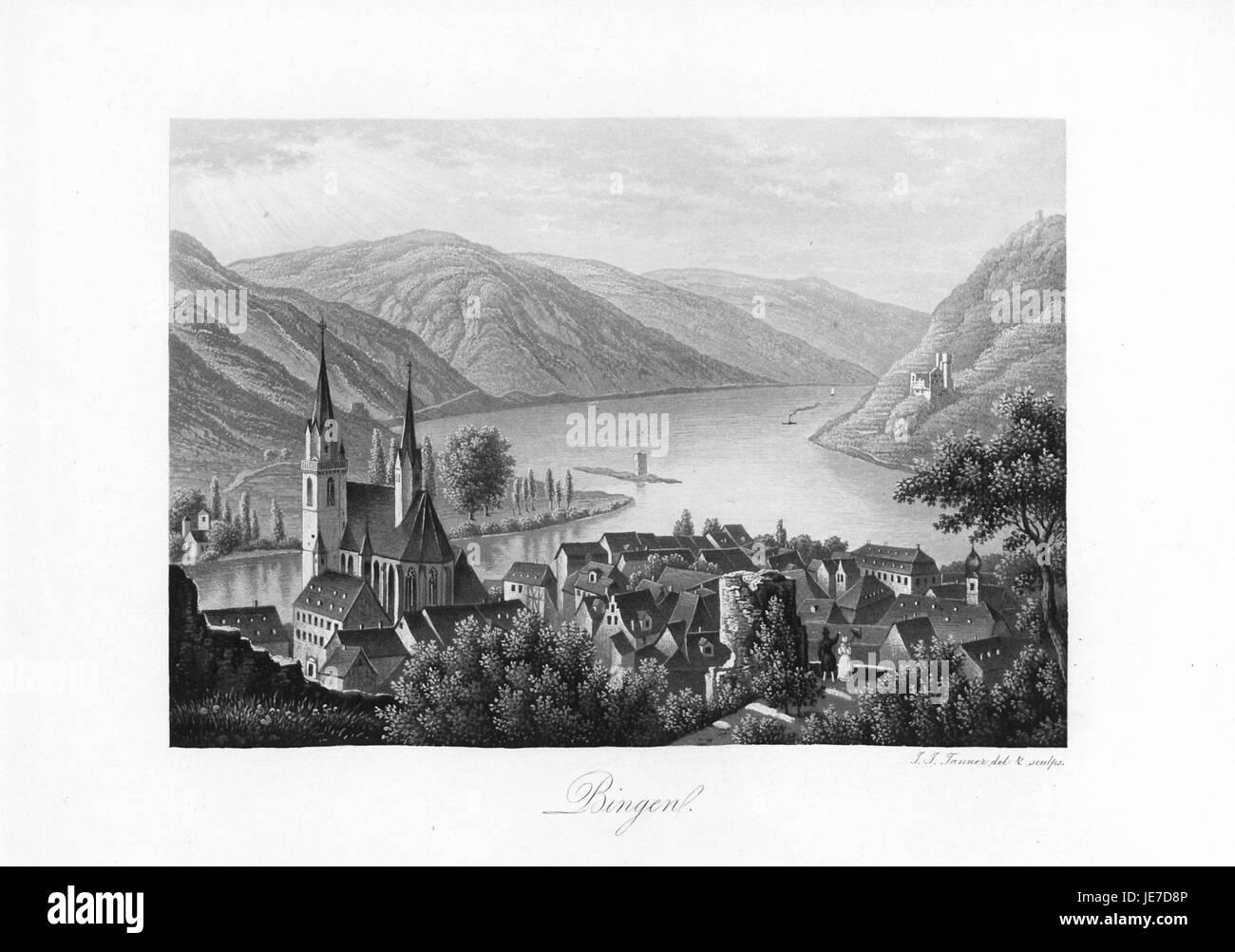 Andenken an den Rhein (1840) 007 - Stock Image