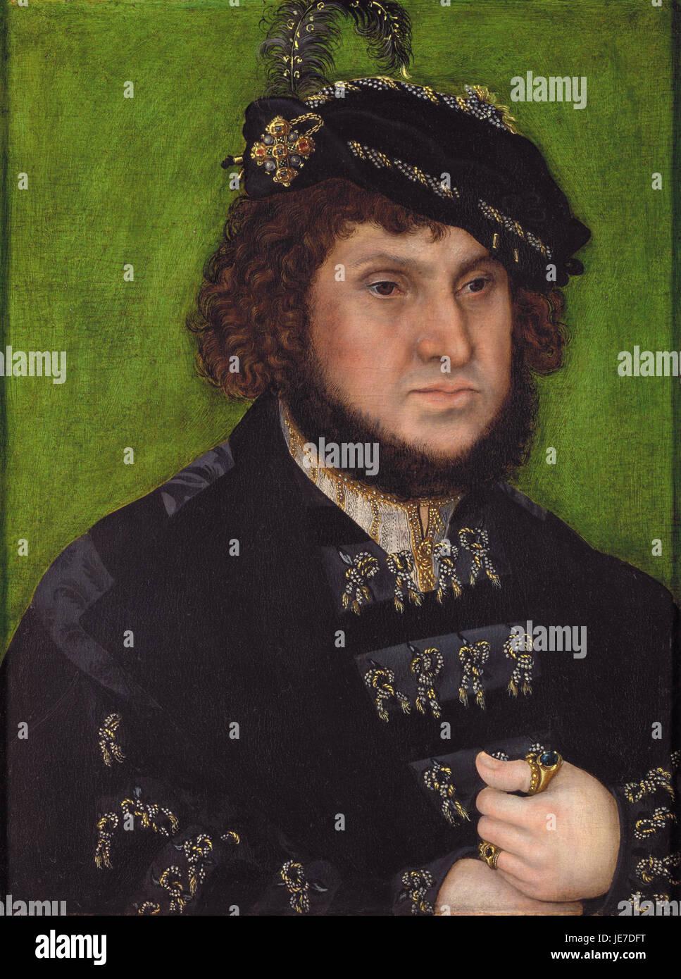 Lucas Cranach the Elder - Portrait of Johann the Steadfast 1509 - Stock Image