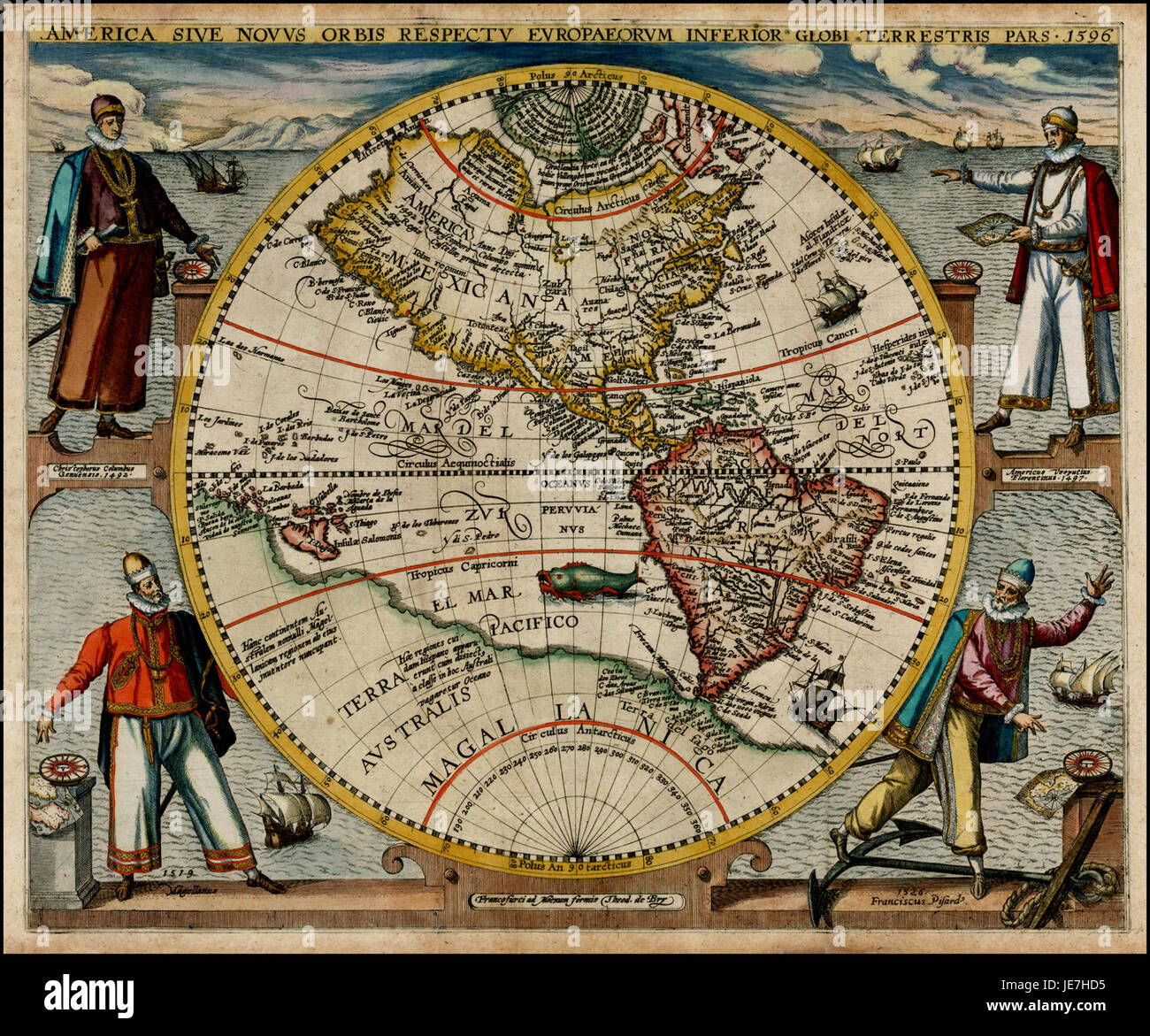 America or the new world map by theodor de bry 1596 stock photo america or the new world map by theodor de bry 1596 gumiabroncs Image collections