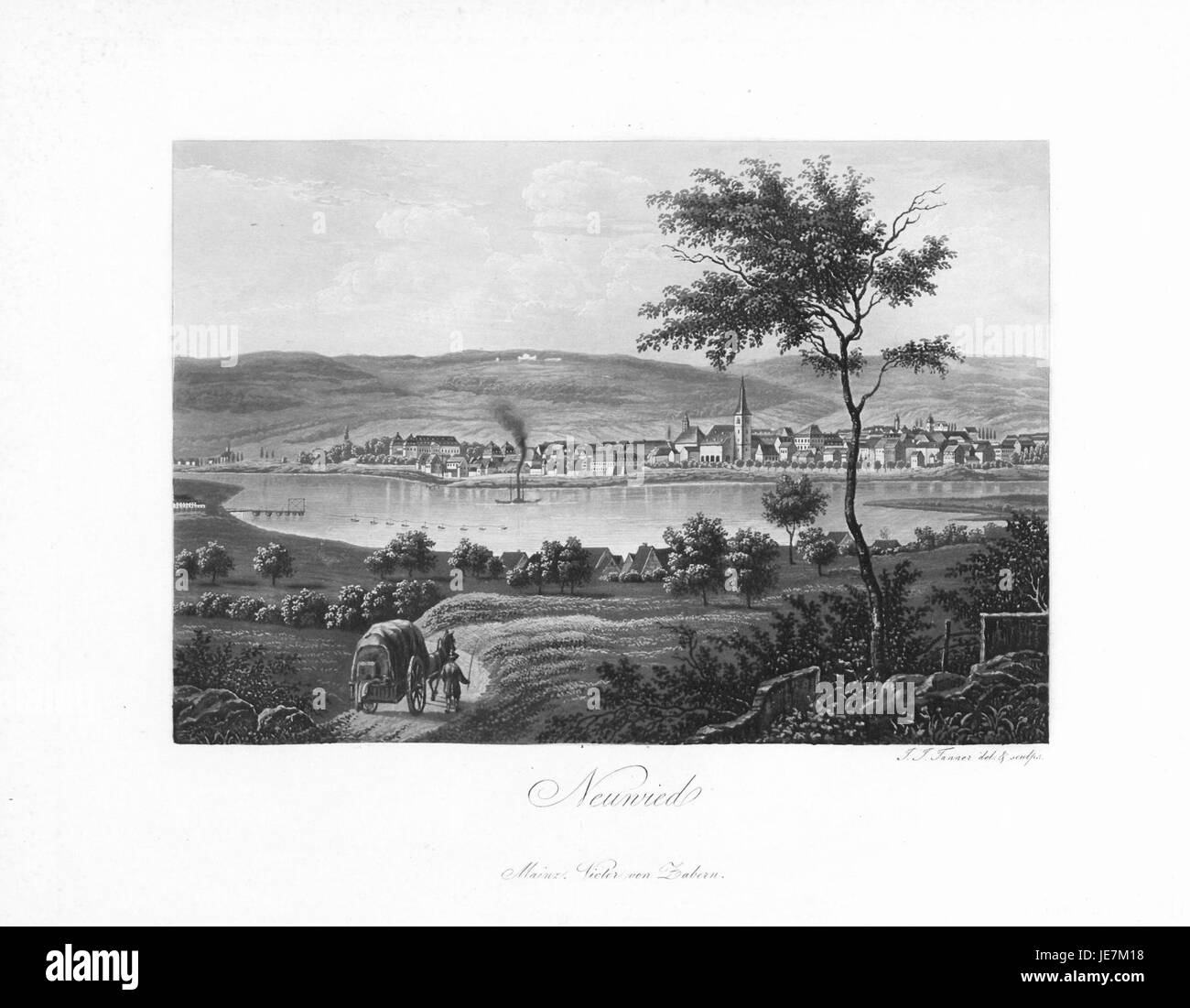 Andenken an den Rhein (1840) 020 - Stock Image