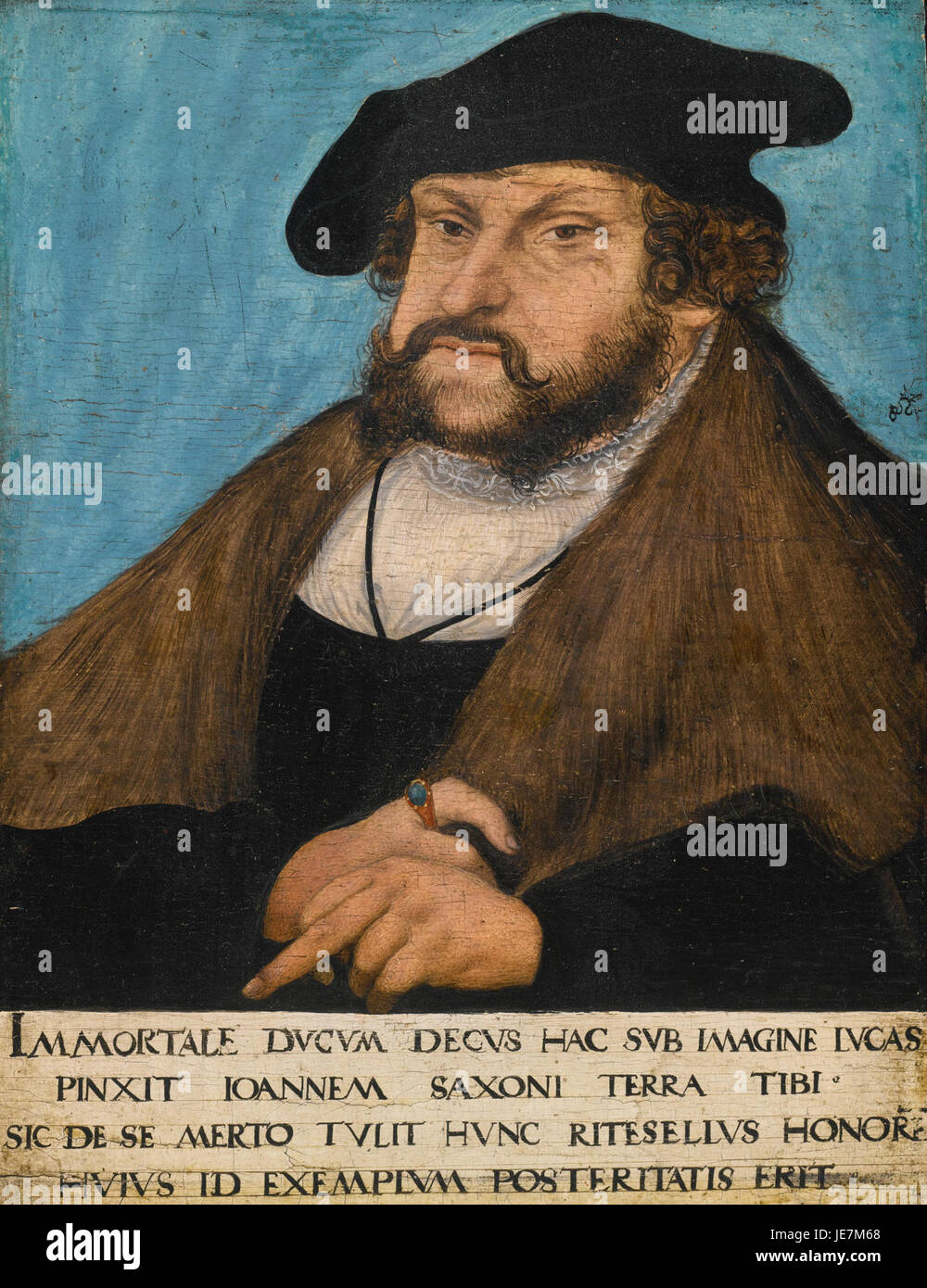 Workshop of Lucas Cranach the Elder Portrait of John the Steadfast, Elector of Saxony - Stock Image