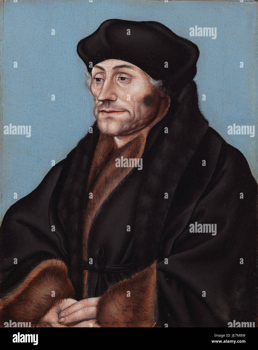 Lucas Cranach the Elder, Portrait of Desiderius Erasmus, c. 1530-36 - Stock Image