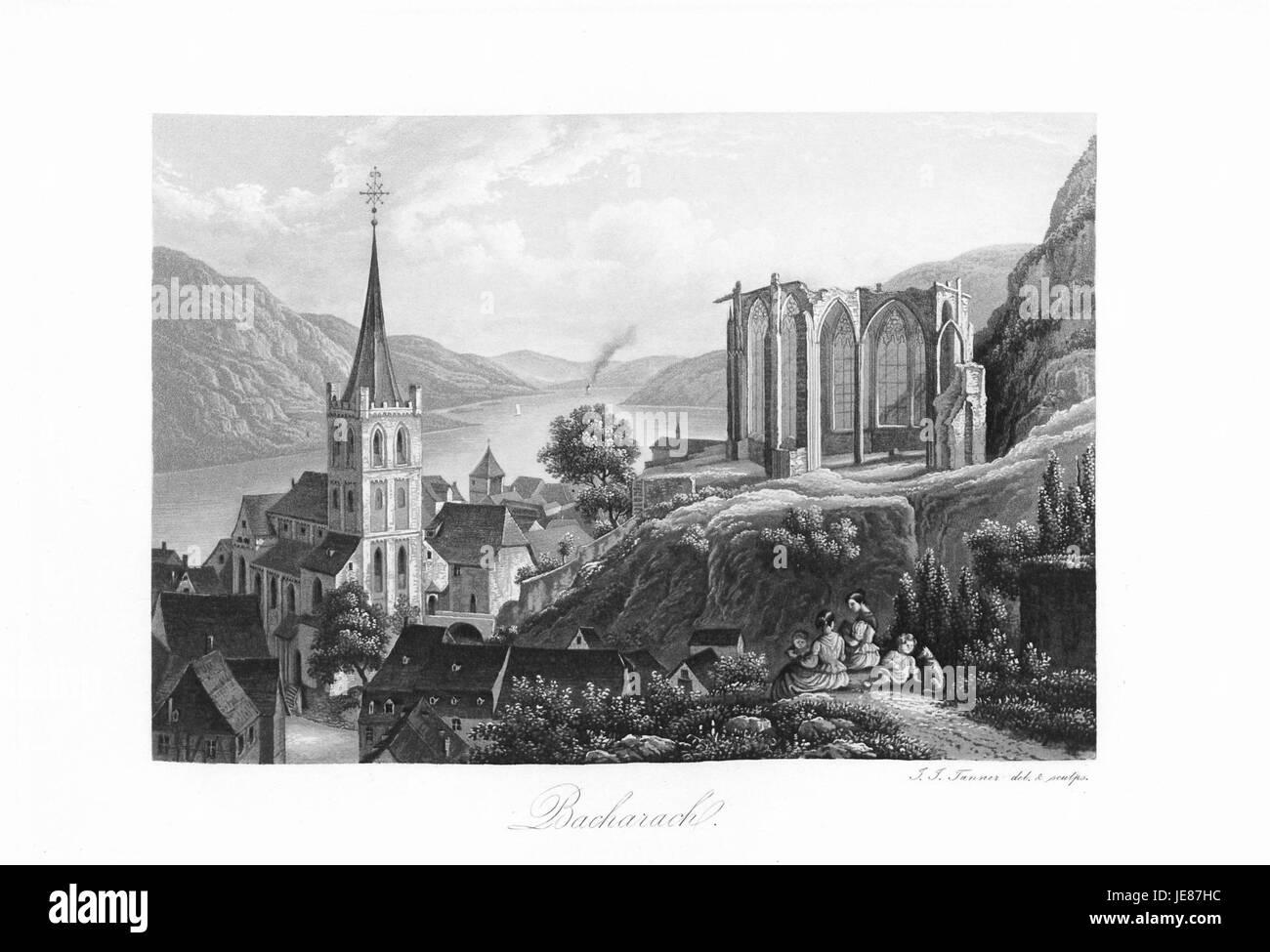 Andenken an den Rhein (1840) 009 - Stock Image