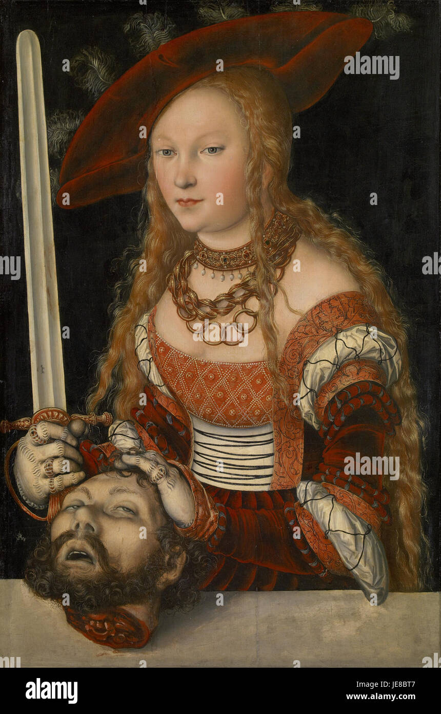 Lucas Cranach the Elder - Judith with the Head of Holofernes - - Stock Image