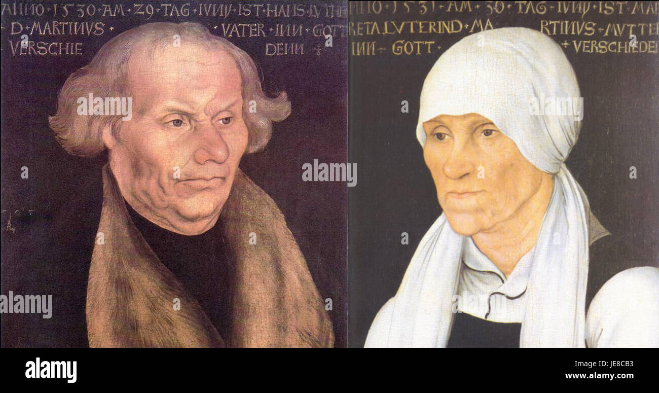 Hans and Margarethe Luther, by Lucas Cranach the Elder - Stock Image