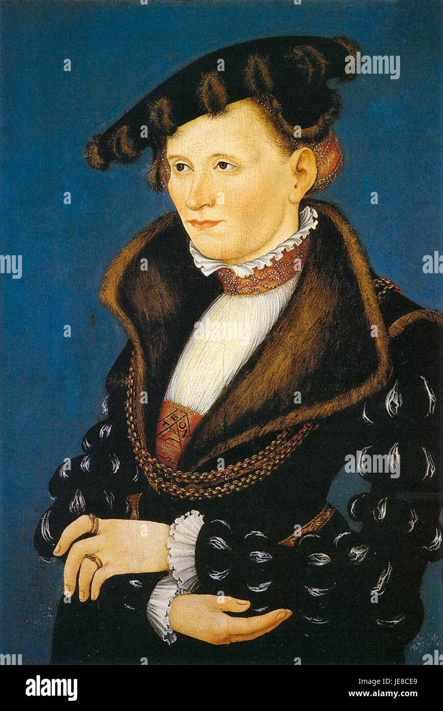 Lucas Cranach d. J. - Portrait of a Woman - WGA05735 - Stock Image