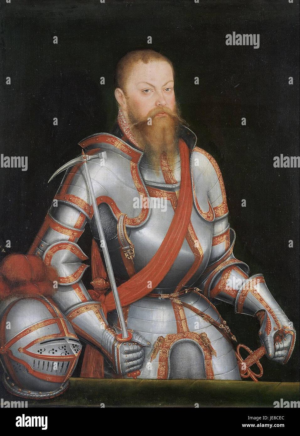 Lucas Cranach the Younger - Prince Elector Moritz of Saxony - - Stock Image