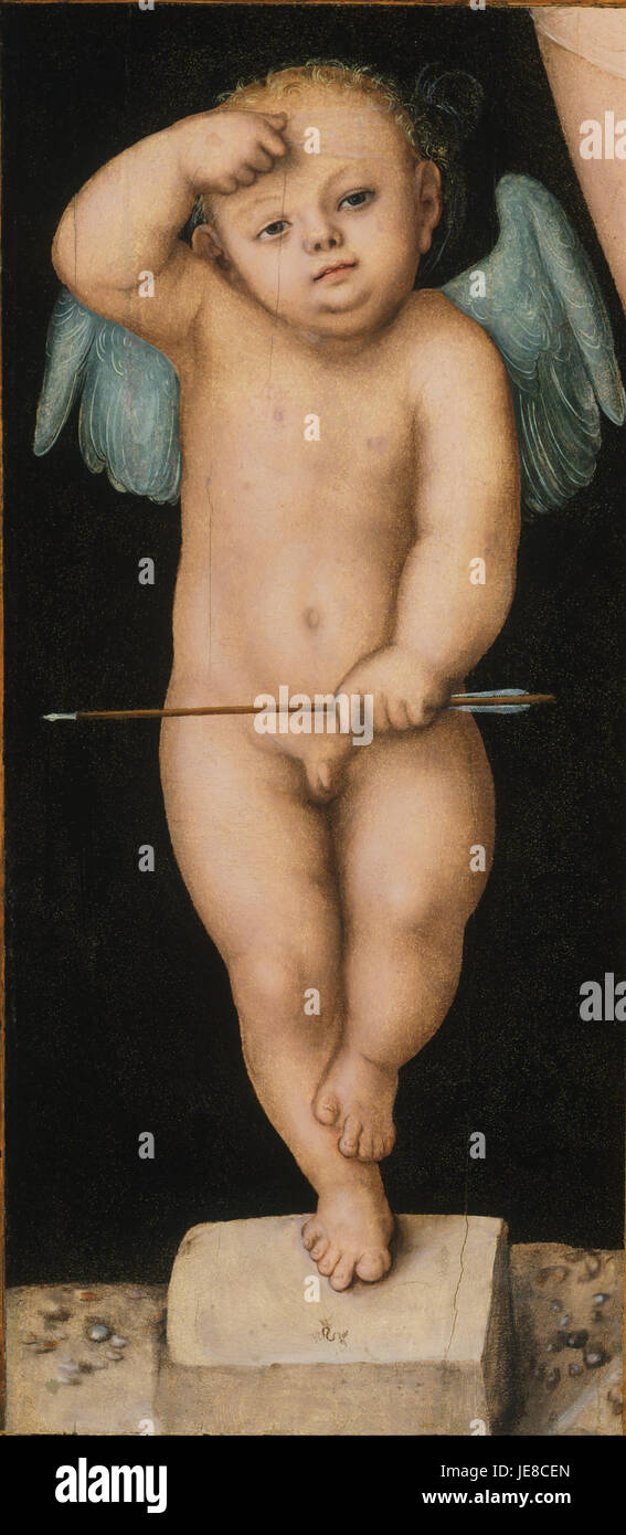 Lucas Cranach the Elder, German (active Vienna, Wittenberg, and Weimar) - Cupid - - Stock Image