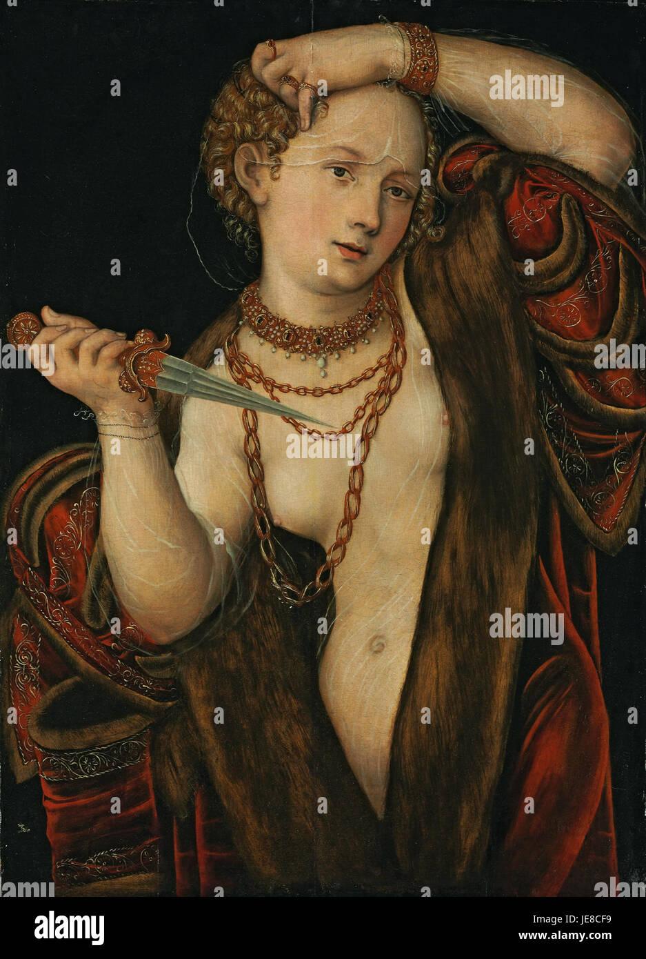 Lucas Cranach d.J. - Lucretia - Stock Image