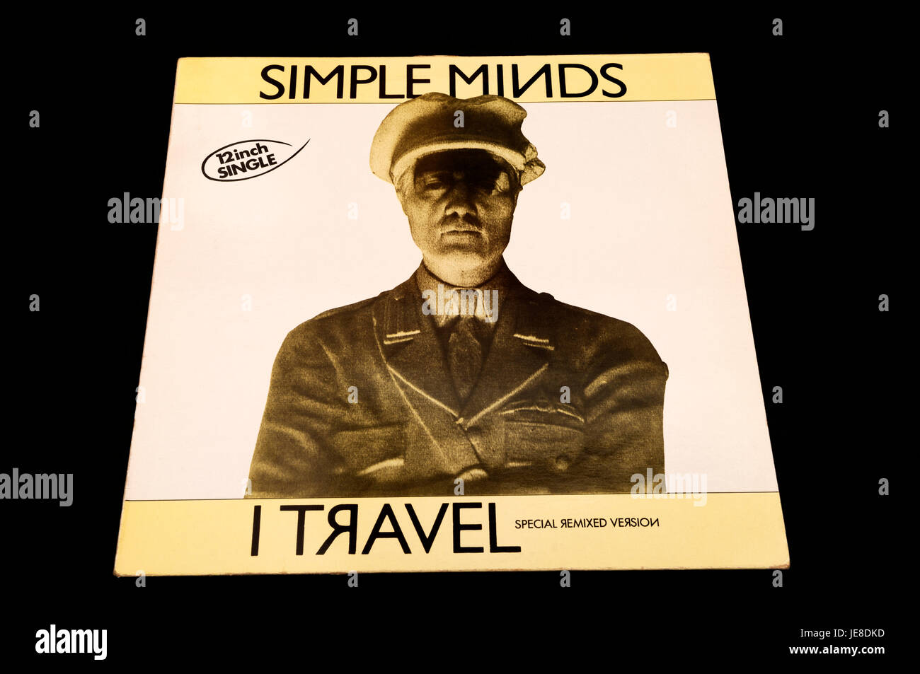 Simple Minds Travel 12 nch single - Stock Image