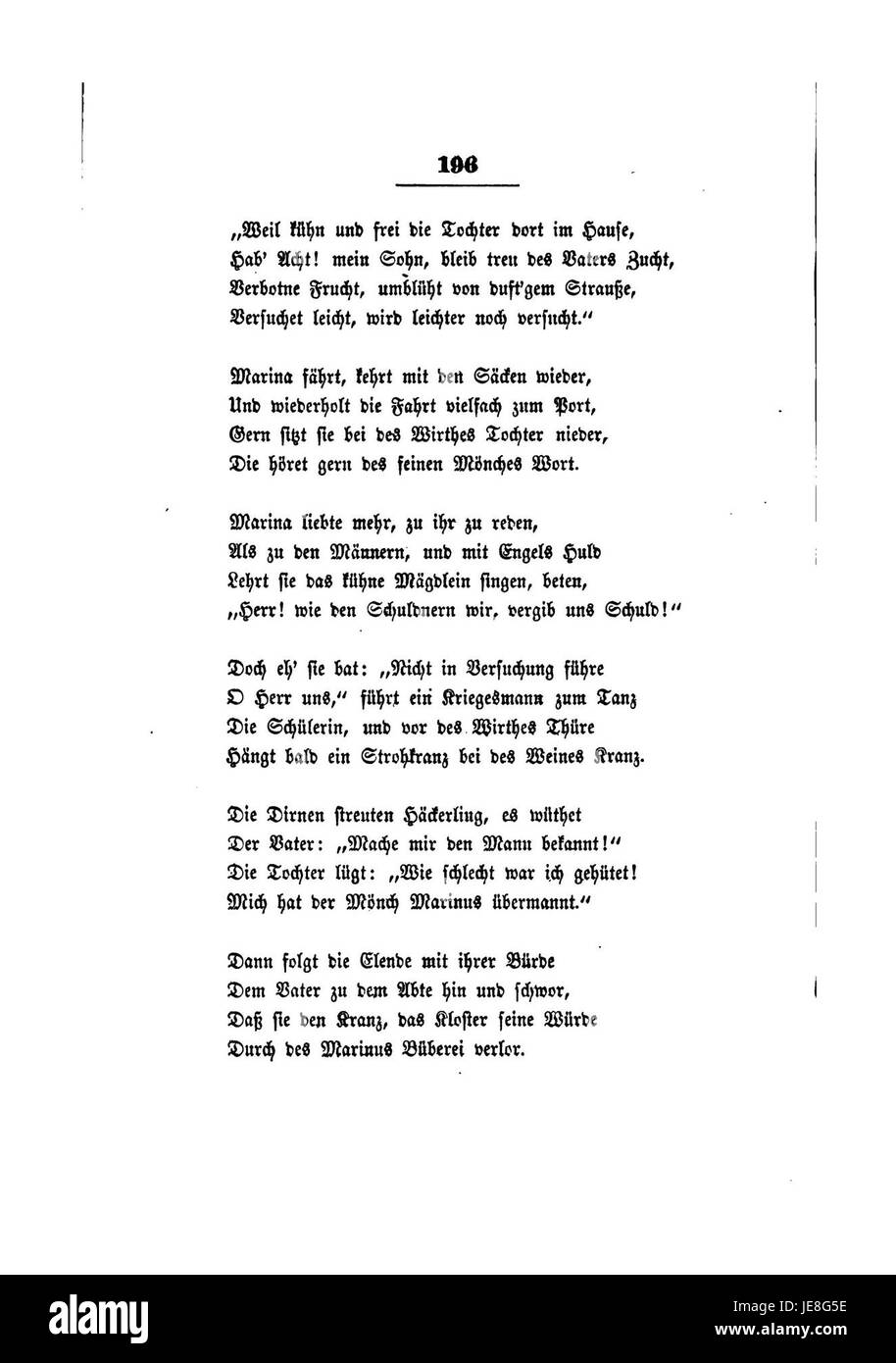 Clemens Brentanos Gesammelte Schriften I 196 Stock Photo