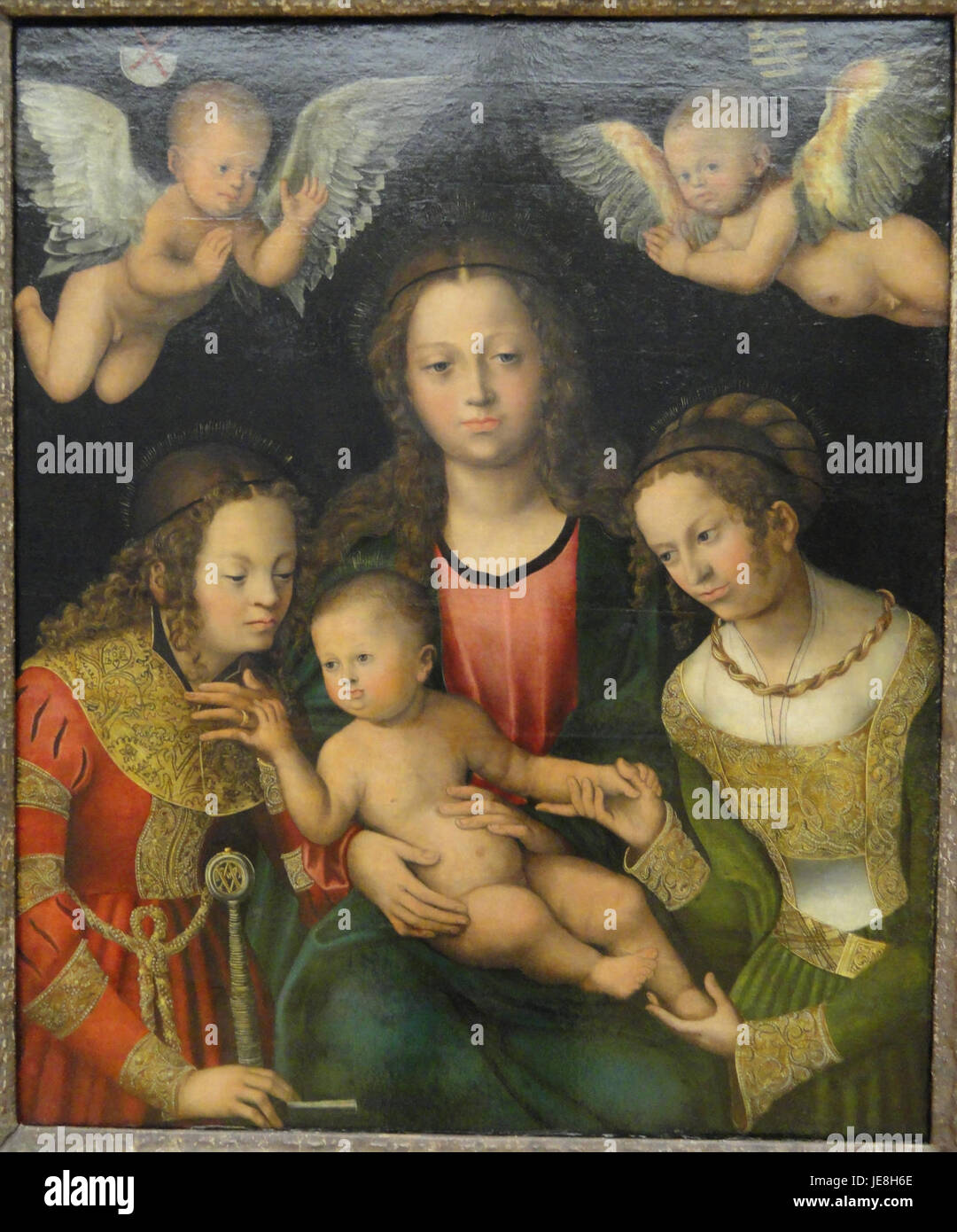Virgin and Child with the Saints Catherine and Barbara by Lucas Cranach the Elder - Statens Museum for Kunst - DSC08163 - Stock Image